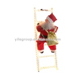 santa climbing ladder