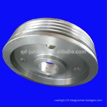 Customized big sizes steel belt wheel pulleys