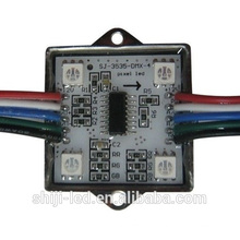 O controle de RoHS WS2801 Artnet DMX512 do CE 4leds 5050 smd pixel impermeável digital rgb conduziu o módulo