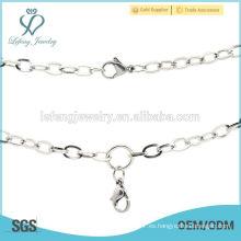 Nueva joyería plateada plata de las cadenas del diseño, collar de plata oxidado popular