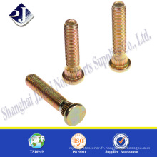 SGS Automobile All Light Yellow Zinc Plated Carbon Steel Wheel Bolt