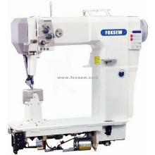 Máquina de costura agulha dupla cabeça alta Lockstitch Postbed inteiramente automático