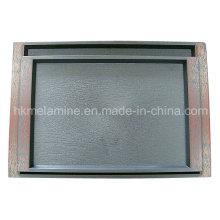 Bac en plastique carré avec logo (TR001)