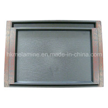 Square Plastic Tray with Logo (TR001)