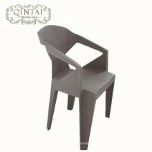 Atacado barato criativo Geométrica dobra cadeira cadeira cadeira de plástico cinza com braço