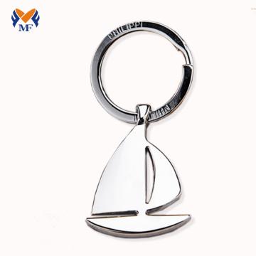 Keychain em branco do metal da forma do veleiro