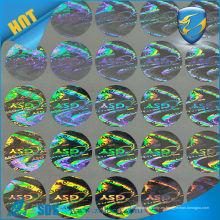 Anti-falsificación Etiqueta autoadhesiva de la hoja del holograma de la alta calidad.