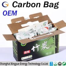 Fabricação de equipamentos originais (OEM) 50g / 100g / 200g / 300g / 500g saco de bambu ativado / saco de carvão de bambu