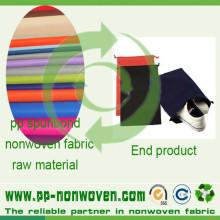 Spunbond polipropileno no tejidos para zapatos bolsa
