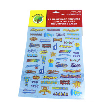Cartoon PVC English Words Cartoon Stickers For Kids
