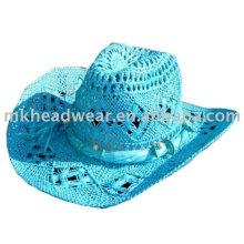 Sombrero de vaquero de paja de color