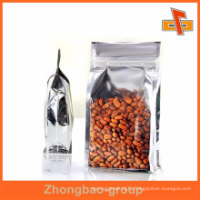 Flat bottom stand up aluminium foil lined food bags for nuts with QS certificate