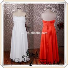RSE231 Simple largo gasa vestido de dama de honor color coral