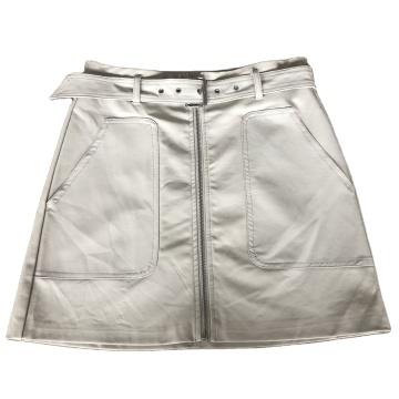 Мини-юбки из искусственной кожи с поясом Skinny