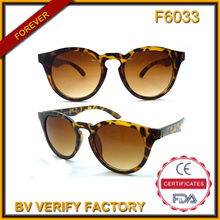 F6033 Retro Sunglasses with Leopard Print