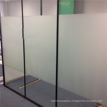 Decorative clear glass satin acid etch frosted glass for Interior Partition