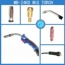 CE Binzel nouvelle poignée type 24KD Mig torche de soudure