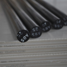 Solid Customized Size  ABS Black Round Rods