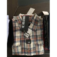 Chemises homme teint en fil écologique