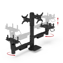 Adjusted height Pos machine stand pole pos mounting solutions with 360 rotatable