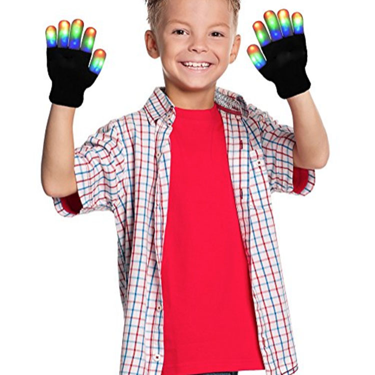 Children Led Glowing Gloves
