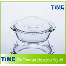 1L hohe Borosilikatglasauflauf mit Deckel