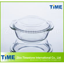 1L High Borosilicate Glass Casserole with Lid