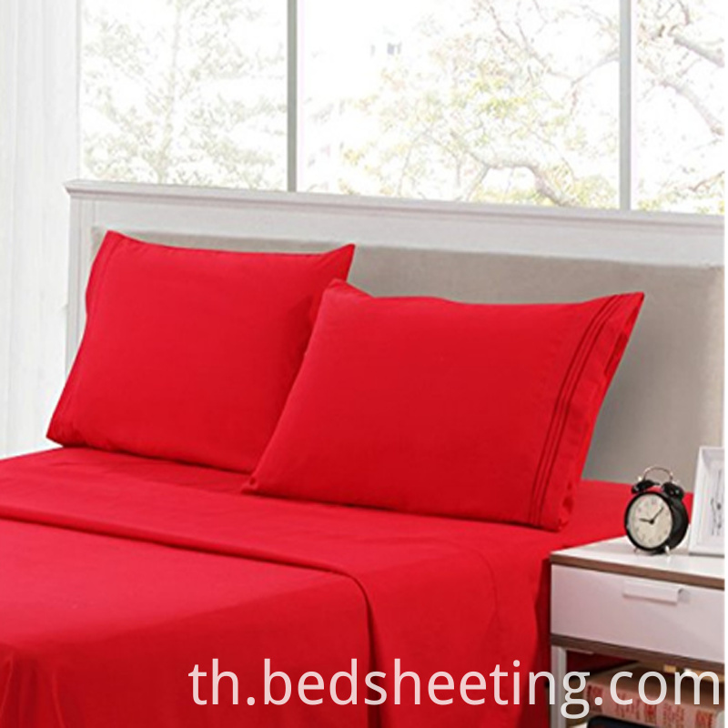 Red Cvc 2575 Sateen Sheets
