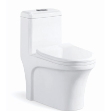 White Double Hole Super Swirling One-piece Toilet