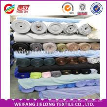 Estoque barato por atacado lote de poliéster de algodão popeline tecido estoque / pronto a granel T / C popeline Tecido de impressão para a camisa dos homens