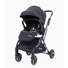 Sistema de viagem de qualidade pequeno carrinho de bebê dobrável reversível de luxo com alcofa