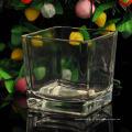 Pot à bougie carré en verre