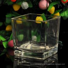 Quadratisches Glas Kerzenglas