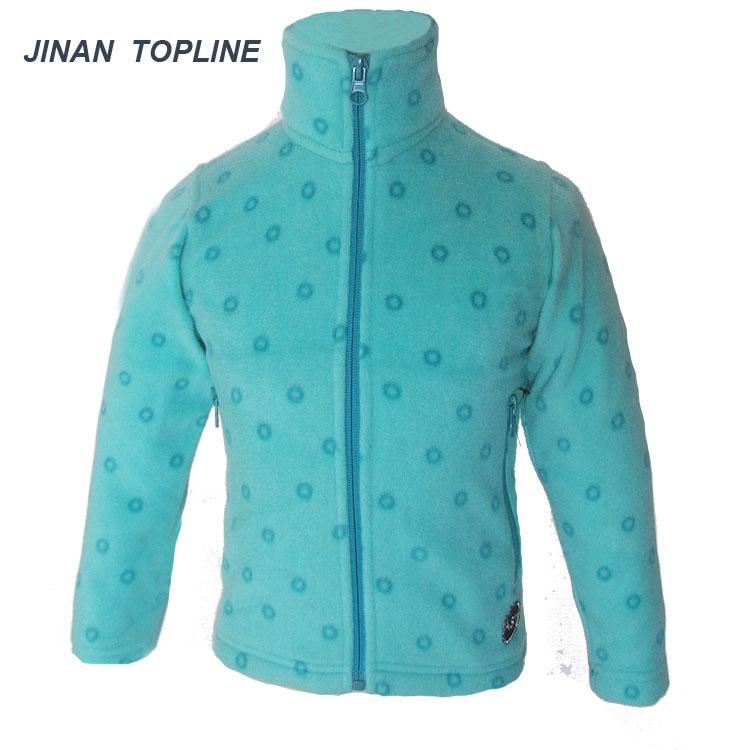Girls Printed Fleece Jacket Soft