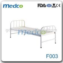 Cadre de lit plat à l'hôpital en acier au carbone Wholley bon marché F003