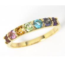 Bijoux en argent sterling 925 en or en pierre de couleur