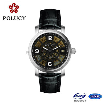Custom Fashionable Mechanical Watch Skeleton for Men