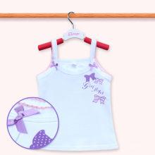 Высокое качество хлопка Дети рукавов T рубашку Baby Girls Tank Top