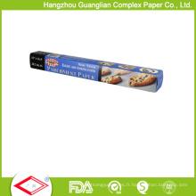 Petit pain de papier de cuisson résistant à la chaleur certifié par la FDA 40GSM