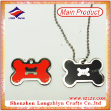 Customized Metal Words Dog Tag, Enamel Plated Gold and Nickel Tag