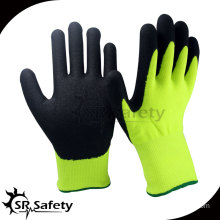 SRSAFETY 13G Knitted nylon liner nitrile coated green work glove,china supplier nylon yarn