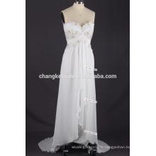 Prix de gros Spaghetti Straps Casual Robe de mariée en mousseline de soie Patterns plus taille robe de soirée