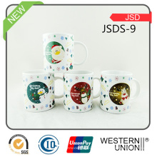 Regalo de Navidad Taza de cerámica promocional con calcomanía
