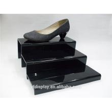 Porte-chaussures acrylique personnalisé noir