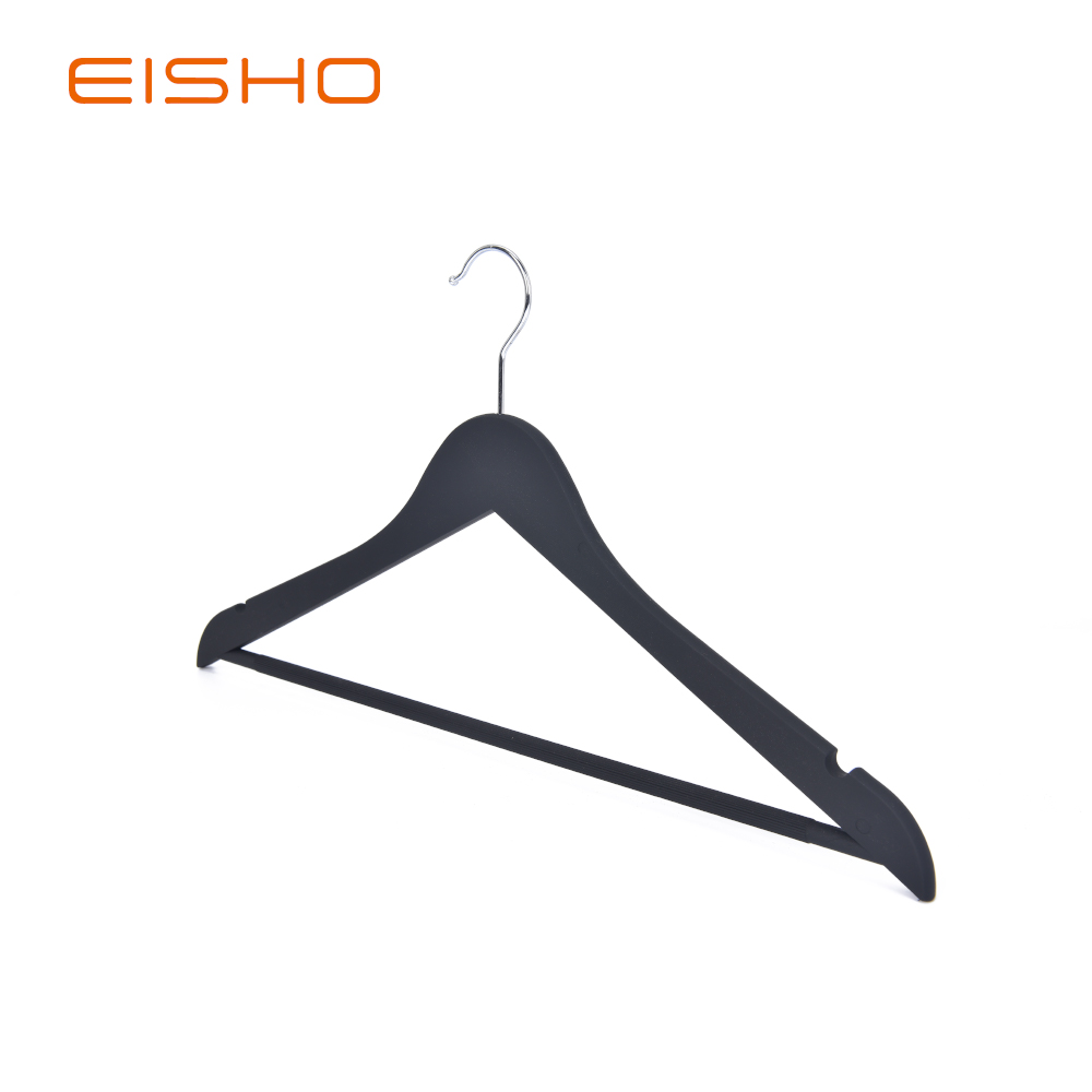 Eisho Solid Wood Black Laundry Wooden Shirts Hanger1