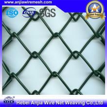 Valla de enlace de cadena galvanizada en caliente con ce para materiales de construcción