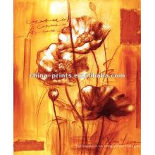 Pintura Abstracta Flores