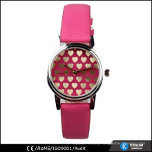 fashion quartz watch PU leather strap