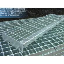 Grade de barras de aço galvanizado, grelha de aço galvanizado, grade galvanizada