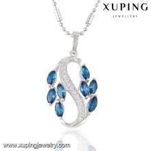 32716 moda elegante zircão cúbico ródio imitação de jóias cadeia pingente